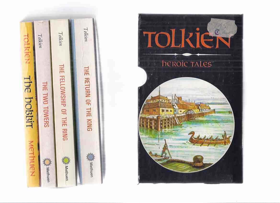 Image for HEROIC TALES -Slipcased Set: The Hobbit ---with The Fellowship of the Ring ---with The Two Towers ---with The Return of the King --- 4 Volumes in a slipcase ( Authorized Canadian Edition of Famous Lord of the Rings trilogy -book 1, 2, 3 and The Hobbit)