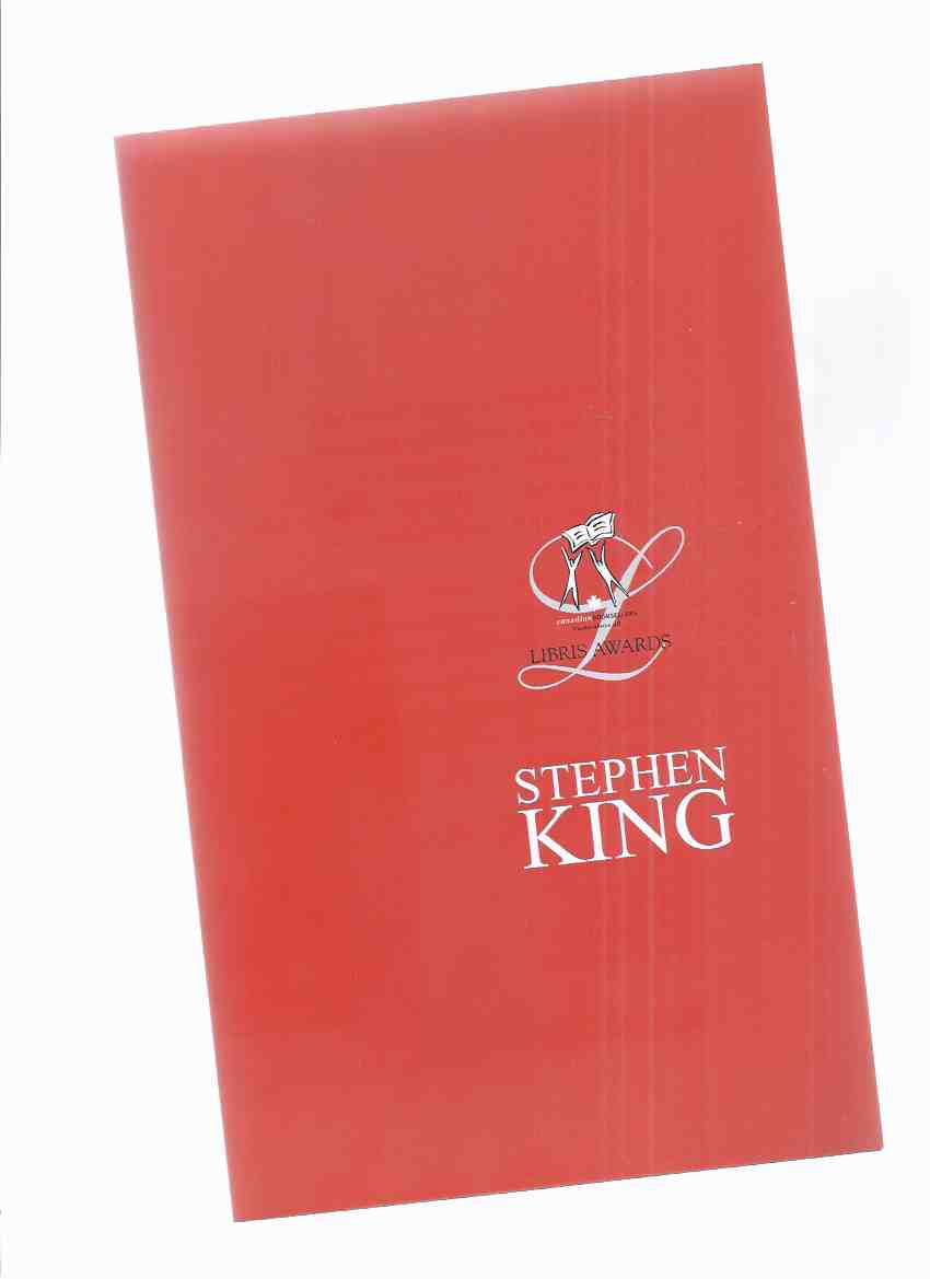 Image for The CBA Libris Awards Pamphlet / Lifetime Achievement Presentation to Stephen King June 8, 2007 ( Canadian Booksellers Association )