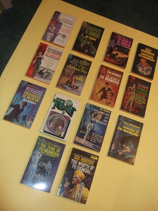 Image for Fourteen Books - Dr. Fu Manchu Series: Bride of; Daughter of; Drums of; Emperor; Hand of ( Si-Fan Mysteries ); Insidious Doctor; Island of; Mask of; President FM; Re-Enter; Return of (aka Devil Dr); Shadow of; Trail of; Wrath of -14 Volumes
