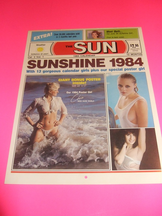 Image for Sunshine Calendar 1984 / The ( Toronto ) Sun ( Sunshine Girls ) (with Large Fold-out Poster of Cherie, Miss Nude World )