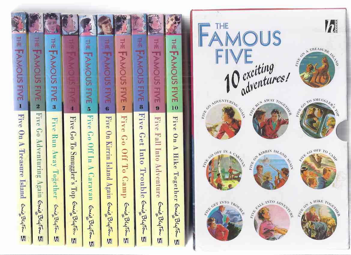 Image for The Famous Five, 10 Volumes in a Slipcase: On a Treasure Island; Go Adventuring Again; Run Away Together; Smuggler's Top; Off in a Caravan; Kirrin Island Again; To Camp; Get Into Trouble; Fall Into Adventure; Hike Together ( Book 1 2 3 4 5 6 7 8 9 10 )