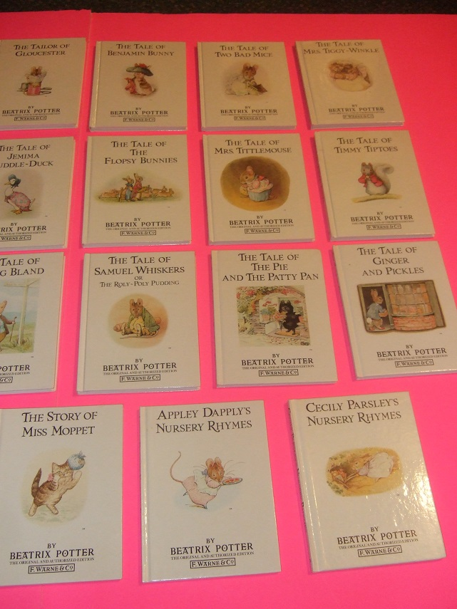 Image for 23 Volumes: Tale Peter Rabbit; Squirrel Nutkin; Tailor Gloucester; Benjamin Bunny; Two Bad Mice; Mrs. Tiggy-Winkle; Mr. Jeremy Fisher; Tom Kitten; Jemima Puddle-duck; Flopsy Bunnies; Tittlemouse; Tod; Pigling Bland; Samuel Whiskers; Pie Patty-Pan; Etc