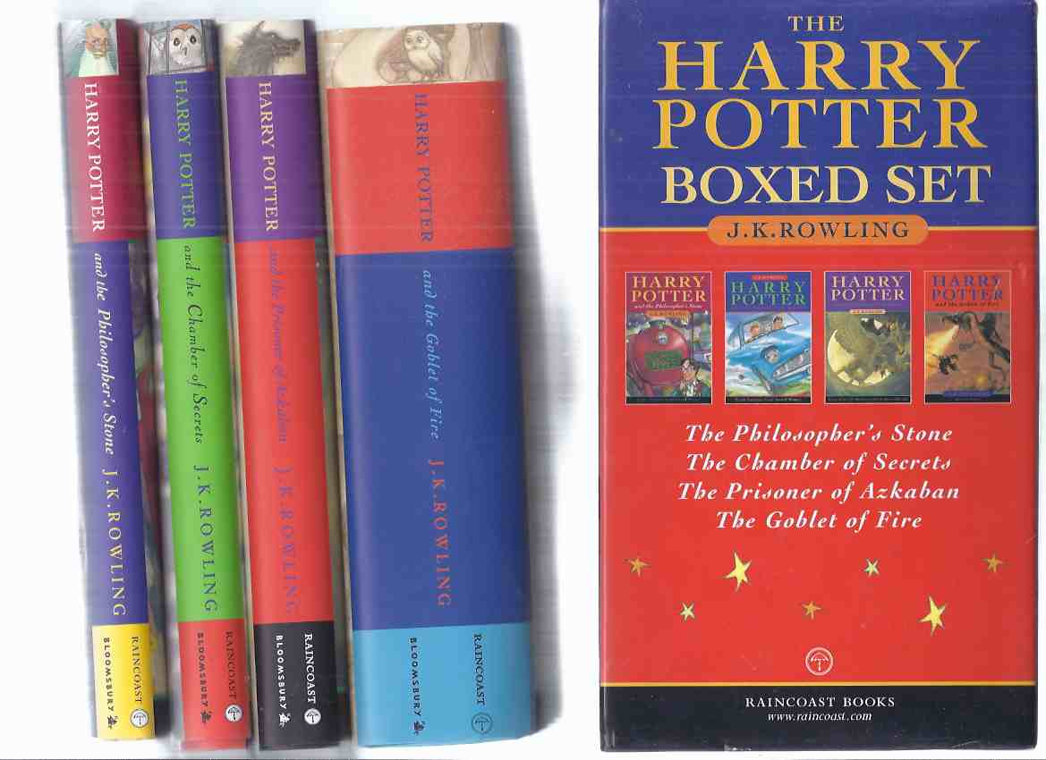 Image for FOUR Volumes in a SLIPCASE / Box: Harry Potter and the Philosopher's Stone ( AKA: Sorcerer's Stone ) ---with Chamber of Secrets ---with Prisoner of Azkaban ---with Goblet of Fire --book 1, 2, 3, 4 ( Slipcased / Boxed 4 vol. Set )