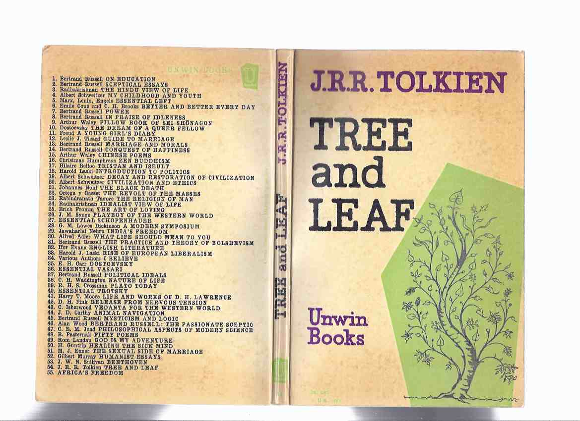 Image for Tree and Leaf ---by J R R Tolkien ( On Fairy Stories; Leaf By Niggle )( 1st UNWIN paperback edition from 1964 )