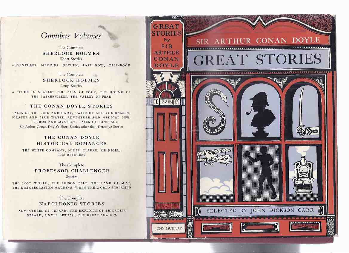 Image for GREAT STORIES: Sir Arthur Conan Doyle ( Croxley Master; Man with Twisted Lip; When World Screamed; Lost Special; Horror of Heights; Three Correspondents; Silver Blaze; Fiend of the Cooperage; Last Galley; How Brigadier Won His Medal /Triumphed in England)