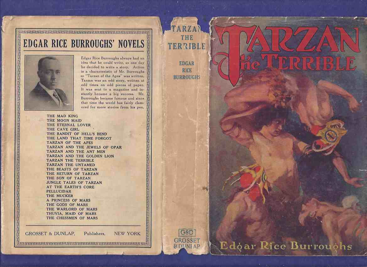 Image for Tarzan the Terrible -by Edgar Rice Burroughs ( 1st Grosset and Dunlap Edition )(includes the Map of Pal-Ul-Don )