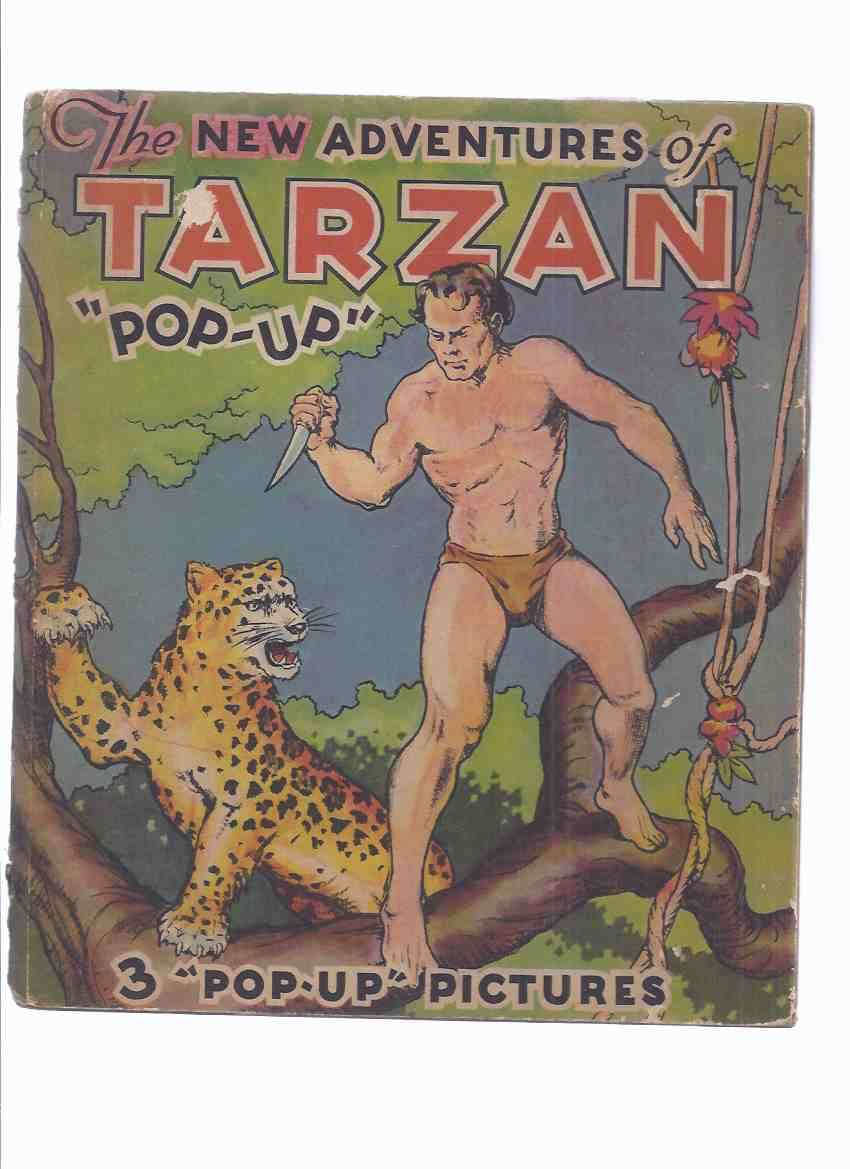 "Image for The NEW Adventures of Tarzan "" POP-UP "":  The Illustrated PopUp Edition -by Edgar Rice Burroughs ( Popups Show Tarzan Swinging Through the Trees; Tarzan Fighting a Gaping Mouth Crocodile; Tarzan and Ula Crossing a River in a Boat with a Sail & Chimpanzee)"