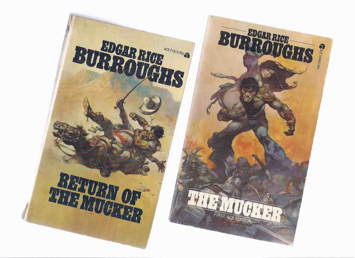 Image for The Mucker ---with The Return of The Mucker -book 1 and 2 - TWO VOLUMES -by Edgar Rice Burroughs  ( Cover Art By frank Frazetta )