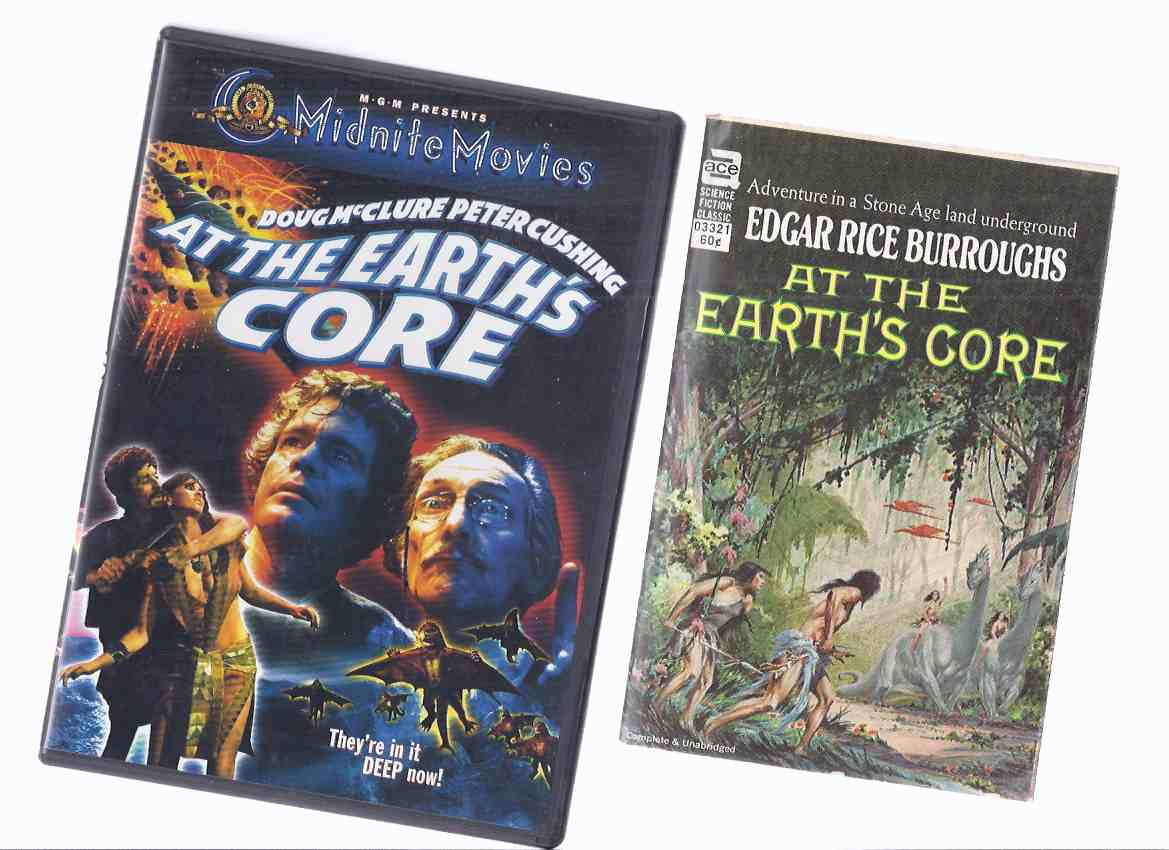 Image for At the Earth's Core - Pellucidar ---by Edgar Rice Burroughs ---with a DVD of the Doug McClure / Peter Cushing Movie