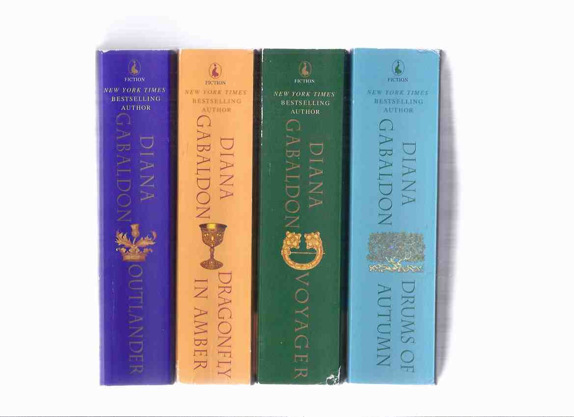 Image for FOUR VOLUMES - Outlander ---with Dragonfly in Amber ---with Voyager ---with Drums of Autumn ---by Diana Gabaldon -BOOKS 1, 2, 3, 4  ( Jamie  Fraser and Claire Randall Time Travel series)