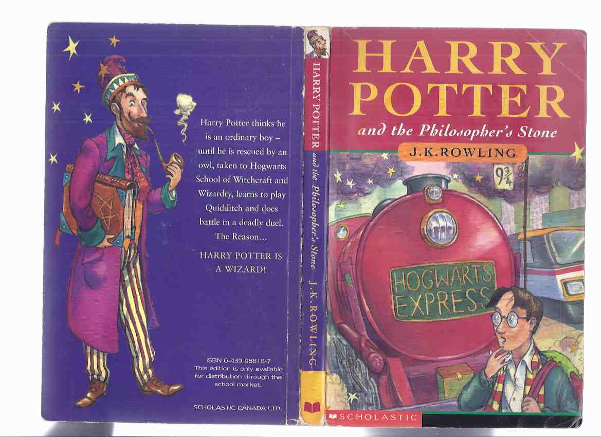 Image for Harry Potter and the Philosopher's Stone ---by J K Rowling  -Book 1 / Volume One of the series (aka Harry Potter and the Sorcerer's Stone )