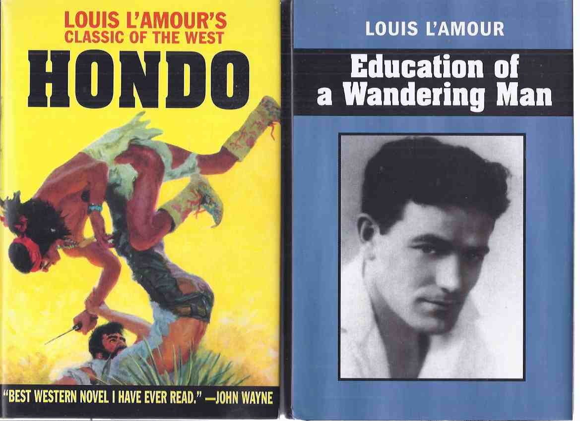 Image for HONDO ---with Education of a Wandering Man ---TWO VOLUMES ---by Louis L'Amour