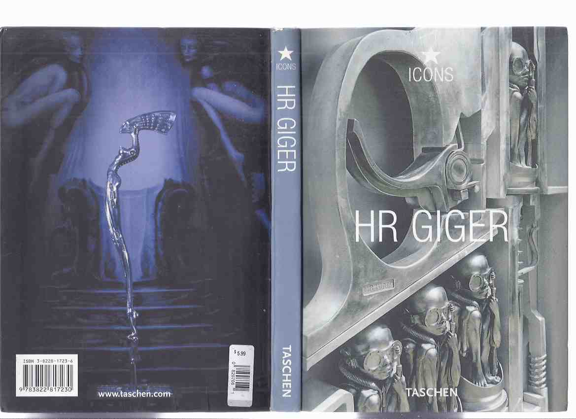 Image for HR Giger: Taschen ICONS Series (inc. H R G and the Soul of the Twentieth Century; Gigerotica; Alu-eloxale Prints; KORN Microphone Stand; Zodiac Fountain; Mystery of San Gottardo; MUSEUM H R G; Alpine Principality of Myths; The Professionals )