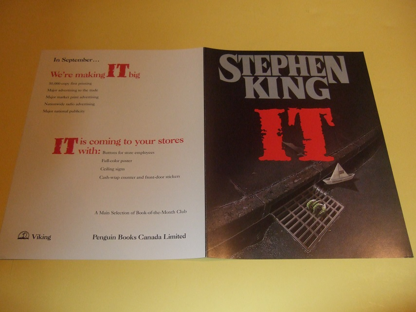 "Image for IT PROMOTIONAL ADVERTISING for The VIKING FIRST EDITION of "" IT "" ( NO BOOK - Advert Only !!)"