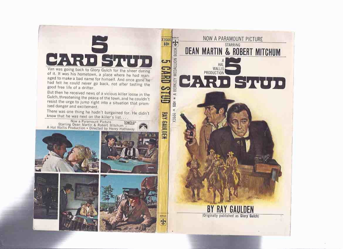 Image For 5 Card Stud By Ray Gaulden Hal Wallis Movie Tie In