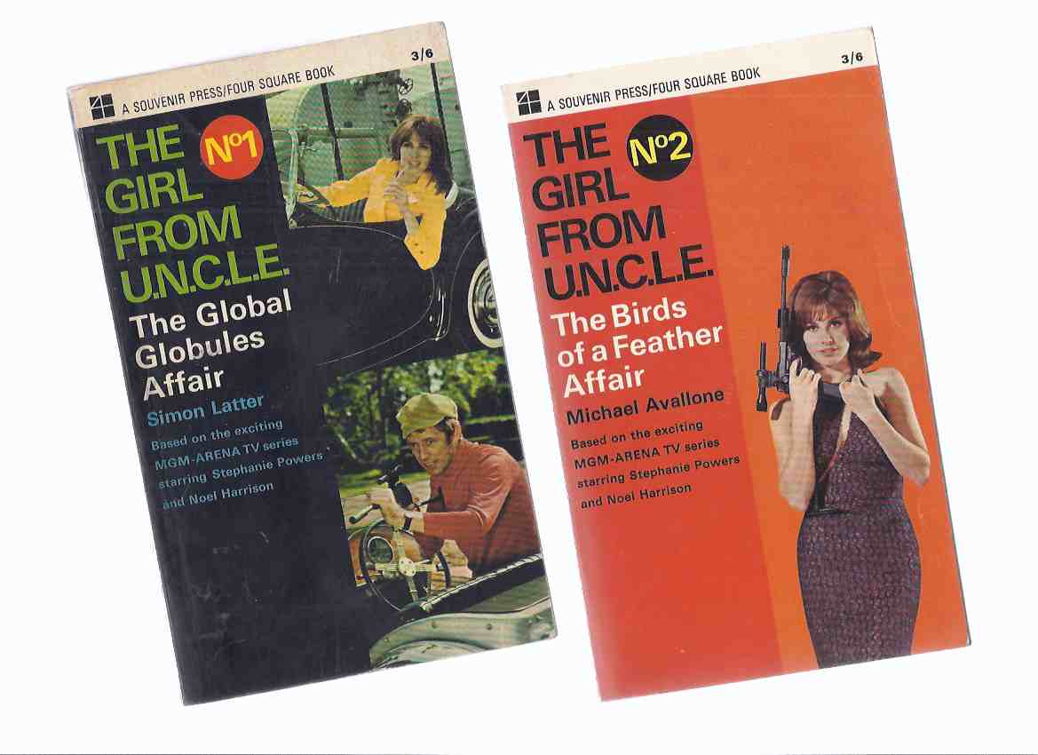 Image for TWO VOLUMES of the Girl from U.N.C.L.E.: The Girl from UNCLE; The Global Globules Affair; The Birds of a Feather Affair  ( TV Tie-In Covers with Stephanie [ Stefanie ] Powers )