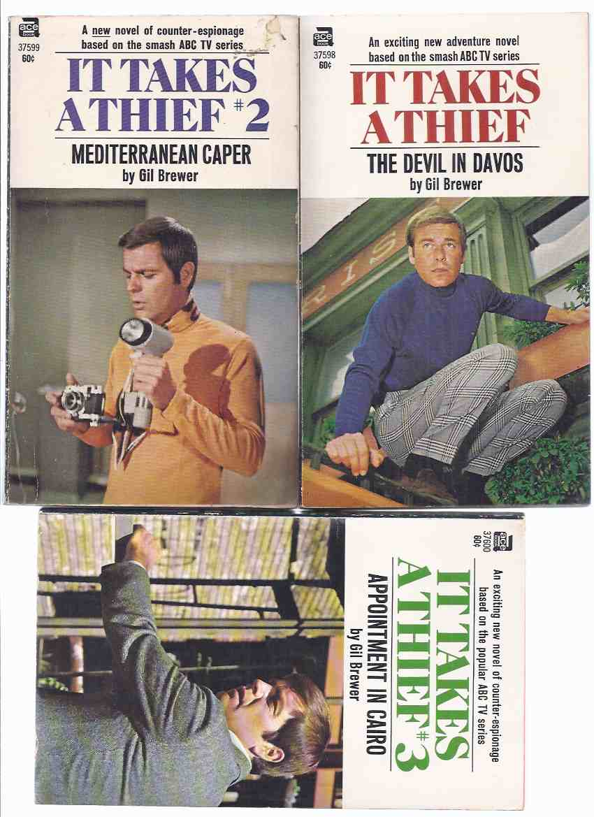 Image for It Takes a Thief:  The Devil in Davos; Mediterranean Caper; Appointment in Cairo -Book 1, 2, 3 ( THREE VOLUMES - TV Tie-In Covers with Robert Wagner )