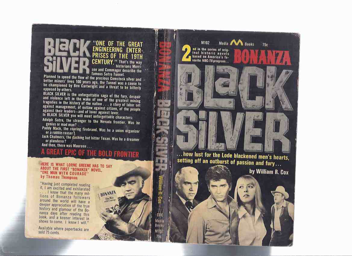 Image for Bonanza: Black Silver, Book # 2 (  TV Tie-In Cover with Lorne Greene [ Ben Cartwright ], Dan Blocker [ Hoss ], Michael Landon [ Little Joe ])