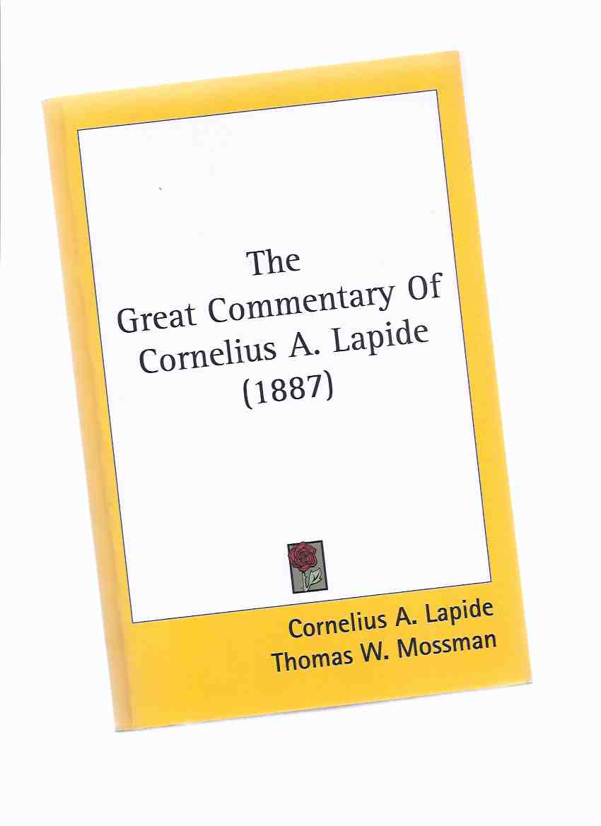 Image for (FACSIMILE EDITION) The Great Commentary of Cornelius A Lapide, St Matthew's Gospel - Chapters i to ix ( 1 to 9 )