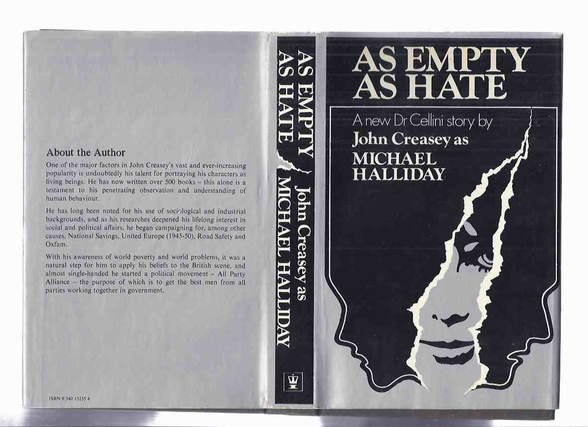 Image for As Empty as Hate: Book 8 in the Dr Emmanuel Cellini Series -by John Creasey writing as Michael Halliday ( Volume Eight / Eighth )