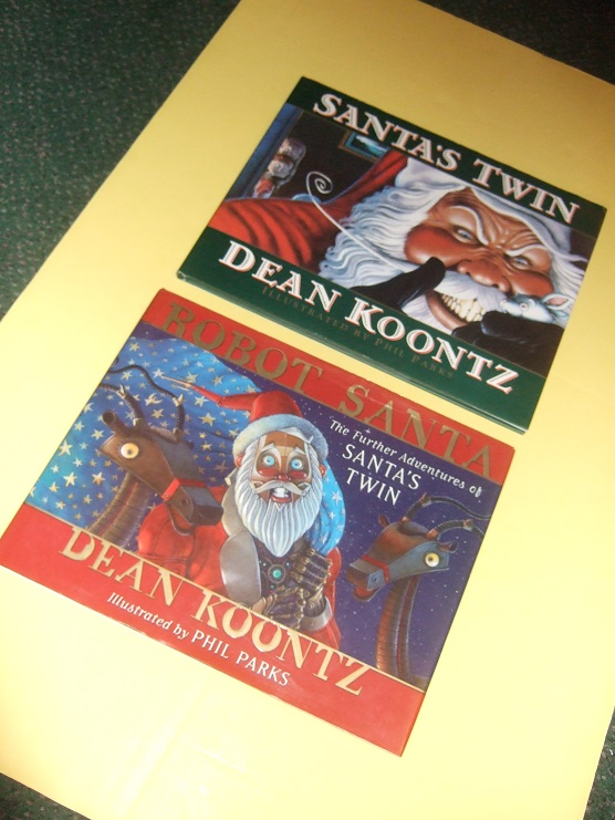 Image for TWO VOLUMES:  Santa's Twin  ---with the Sequel, Robot Santa -book 1 and 2 ---by Dean R Koontz