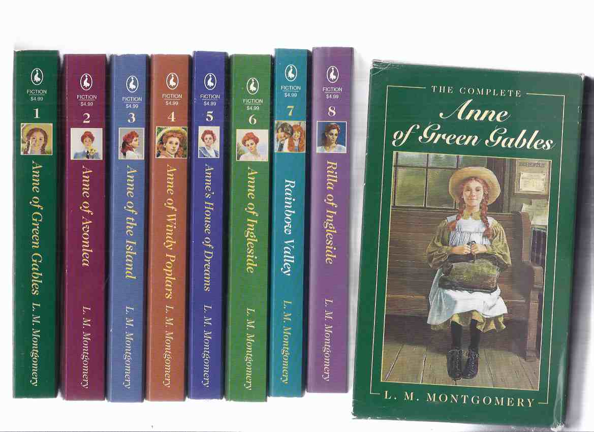 Image for Eight Volumes - L M Montgomery Boxed / Slipcased Set: Anne of Green Gables -  Avonlea - the Island - Windy Poplars - Anne's House of Dreams -of Ingleside - Rainbow Valley - Rilla of Ingleside --- Books 1, 2, 3, 4, 5, 6, 7, 8 in a slipcase  ( Box Set )