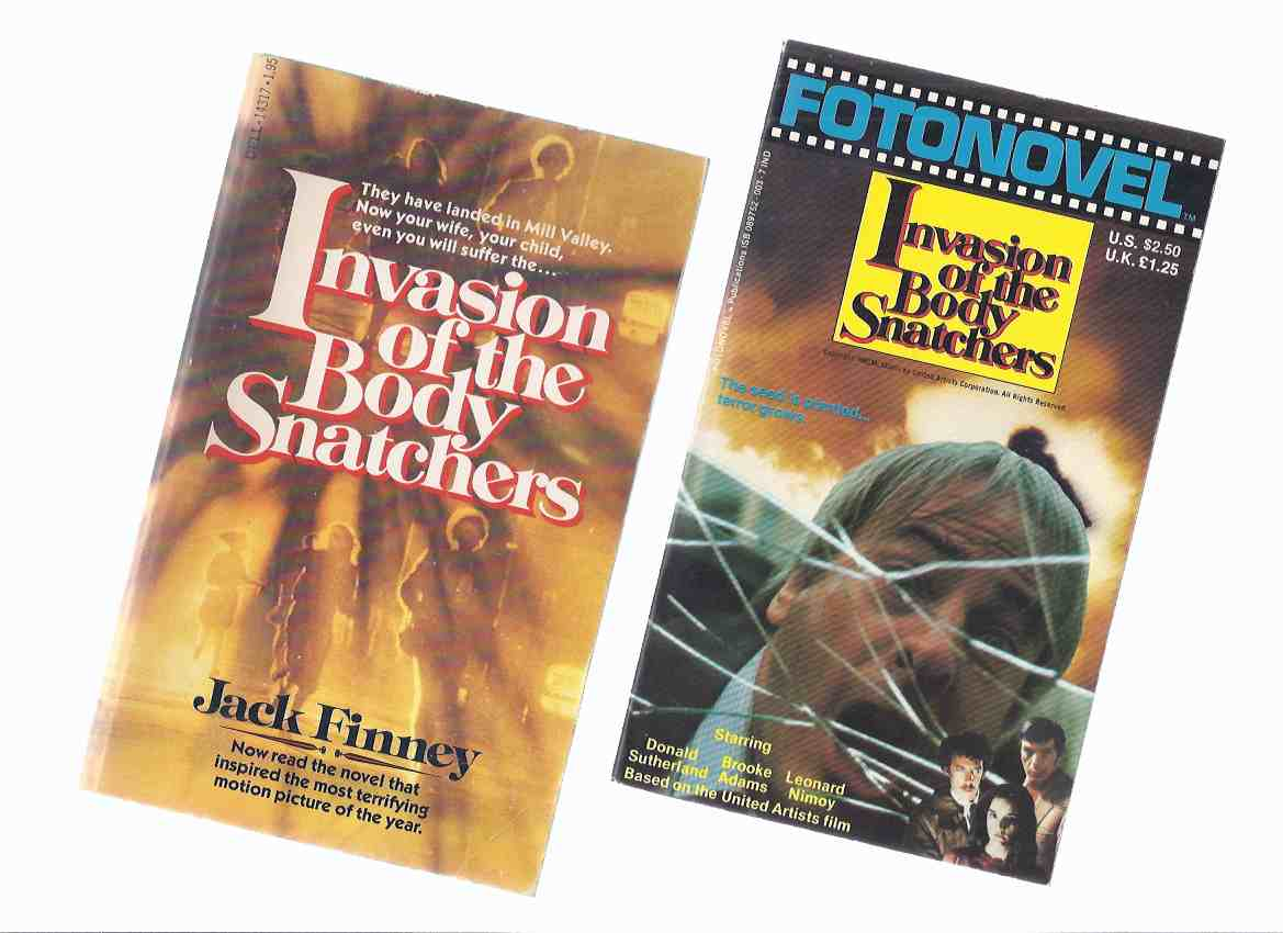 Image for Invasion of the Body Snatchers -by Jack Finney ( Two US paperback Movie / Fotonovel Tie-In Editions )