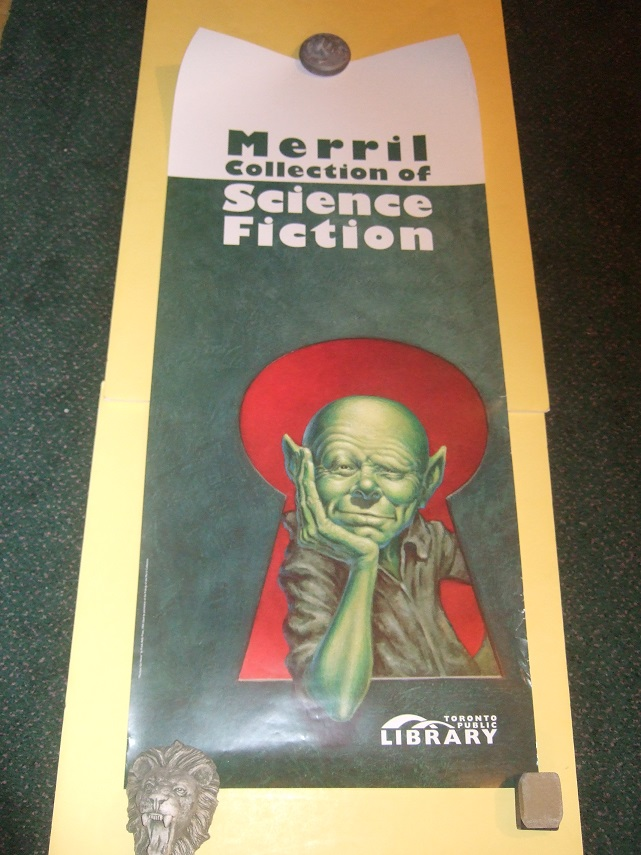 Image for Frank Kelly Freas Poster Advertising the Merril Collection of Science Fiction, Toronto Public Library System (Image Used on Martians Go Home By Fredric Brown )