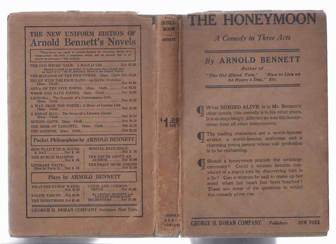 Image for The Honeymoon:  A Play in Three Acts ---by Arnold Bennett  ( 3 )