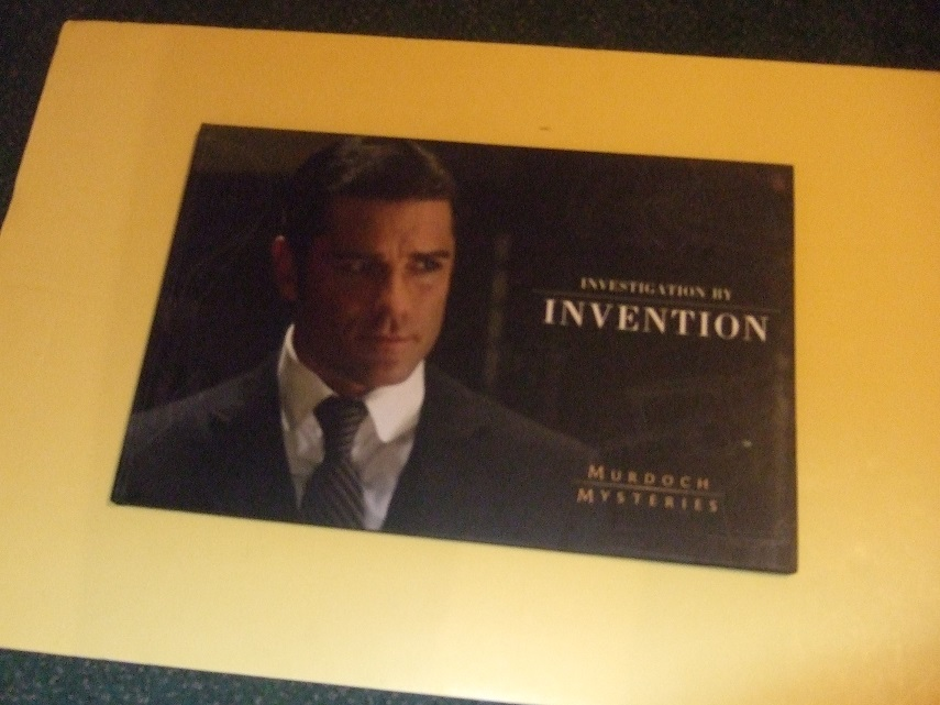 MURDOCH MYSTERIES:  Investigation By Invention (includes a DVD  Titled: A Man of the Future )( Promotional / Advertising Item for the TV Series )