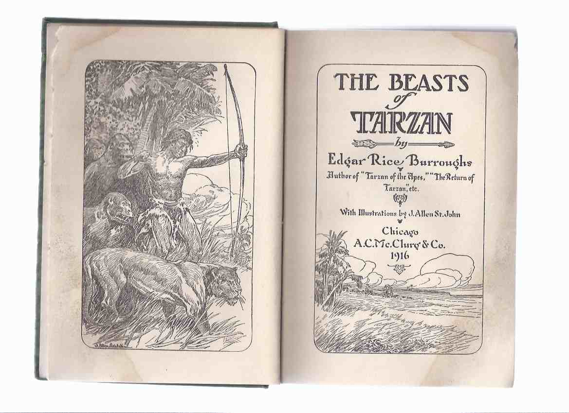 Image for The Beasts of Tarzan -by Edgar Rice Burroughs (The 3rd Tarzan Adventure / McClurg 1st Edition )