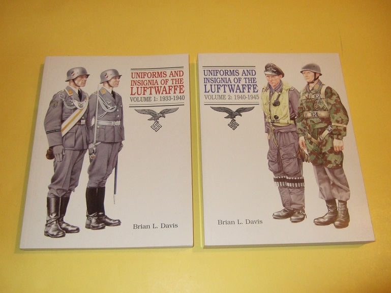 Image for TWO BOOKS : Uniforms and Insignia of the Luftwaffe, Volume 1 1933 - 1940 / Vol. 2 1940 - 1945 ( Nazi Germany / German )