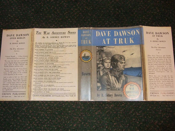 Image for DUSTJACKET for:  Dave Dawson at TRUK  ---The War Adventure Series ---DUSTJACKET ONLY ---NO BOOK  ( Facsimile DJ for the 1946 1st Edition Book )