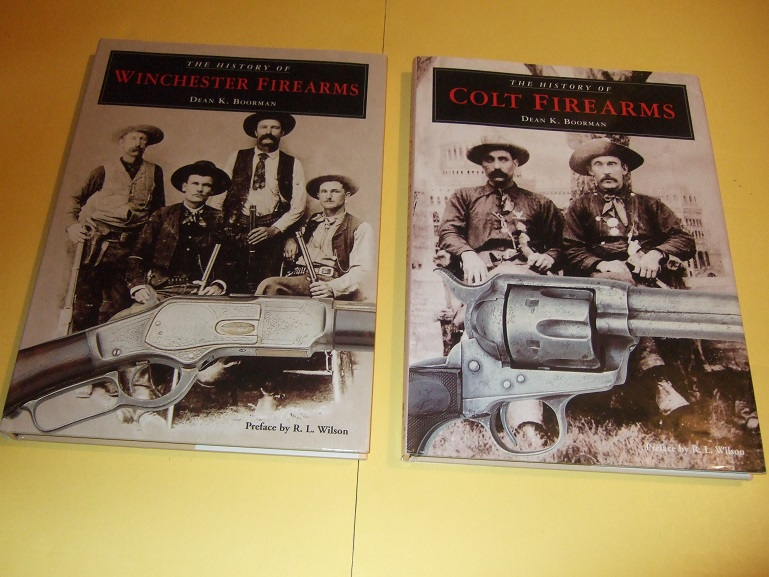 Image for TWO VOLUMES:  The History of COLT Firearms -with The History of Winchester Firearms ( Rifles, Revolvers, Guns, etc)