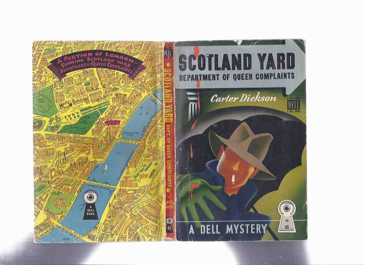 Image for Department of Queer Complaints:  Scotland Yard - Colonel March Crime Stories ... Dell Map Back Edition( The New Invisible Man; Footprint in the Sky; The Crime in Nobody's Room; Hot Money; Death in the Dressing Room; The Silver Curtain; Error at Daybreak )