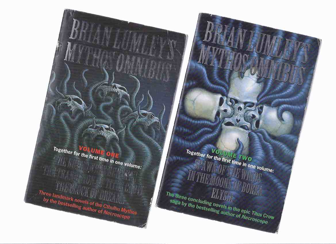 Image for Brian Lumley's Cthulhu Mythos Omnibus, Book One & Two:  The Burrower's Beneath; Transition of Titus Crow; Clock of Dreams; Spawn of the Winds; In the Moons of Borea; Elysia  ---2 Volumes By Brian Lumley ( Book One / Two )( H P Lovecraft related)