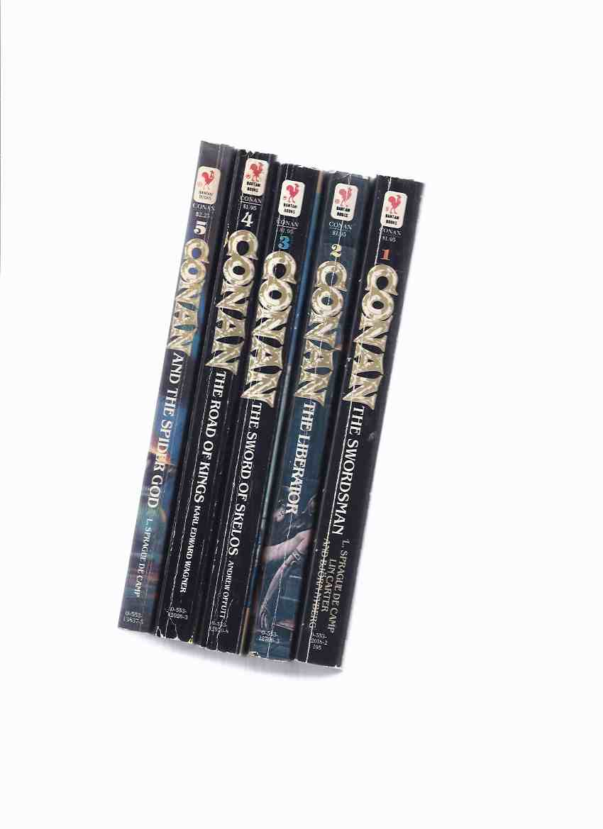 Image for FIVE VOLUMES:  The Swordsman; The Liberator; Sword of Skelos; Road of Kings; The Spider God -book 1, 2, 3, 4, 5 of The Fantastic NEW Adventures of Conan ( Based on the Creation of Robert E Howard )( Conan the Barbarian )
