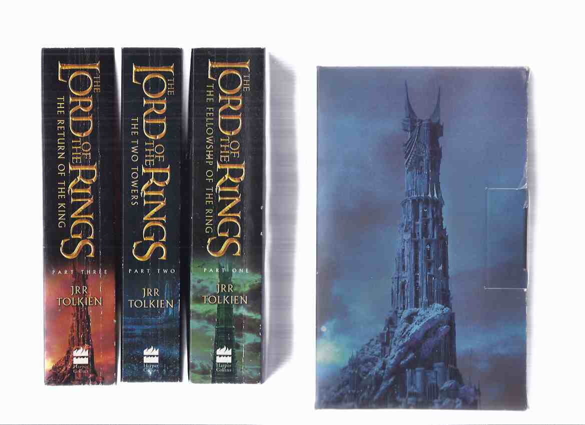 Image for THREE VOLUMES by J R R Tolkien: Slipcased set of The Lord of the Rings, volume I, II, III:  Fellowship of the Ring, Two Towers, Return of the King, ---book 1, 2 and 3 - the trilogy ( Slipcase / Box / Boxed )