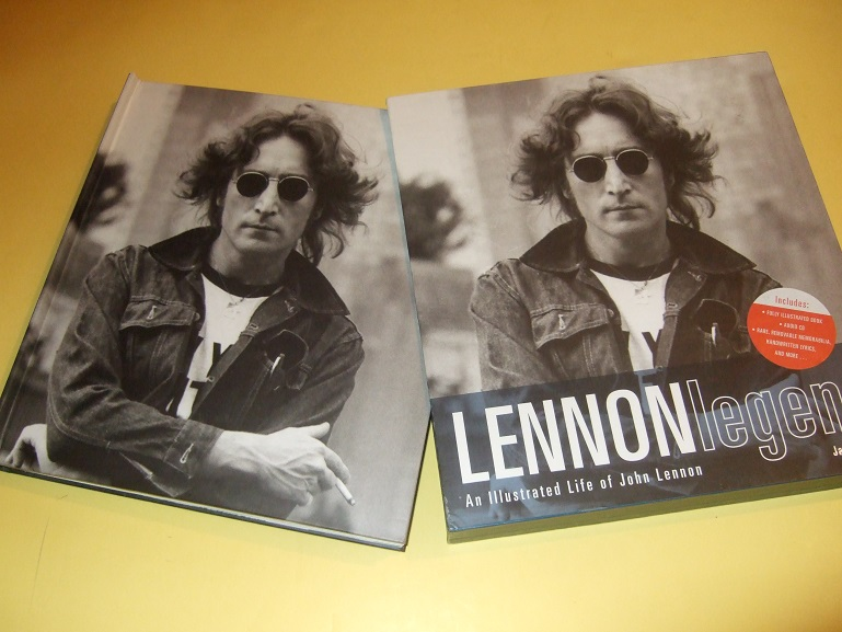 Image for Lennon Legend: An Illustrated Life By John Lennon (includes 60 Minute CD Titled In His Own Words withJohn Speaking About His Life and Art and Includes a LIVE RECORDING of IMAGINE )( Slipcase Edition )(facsimiles inc. Beatles Cards, Drawings, etc)