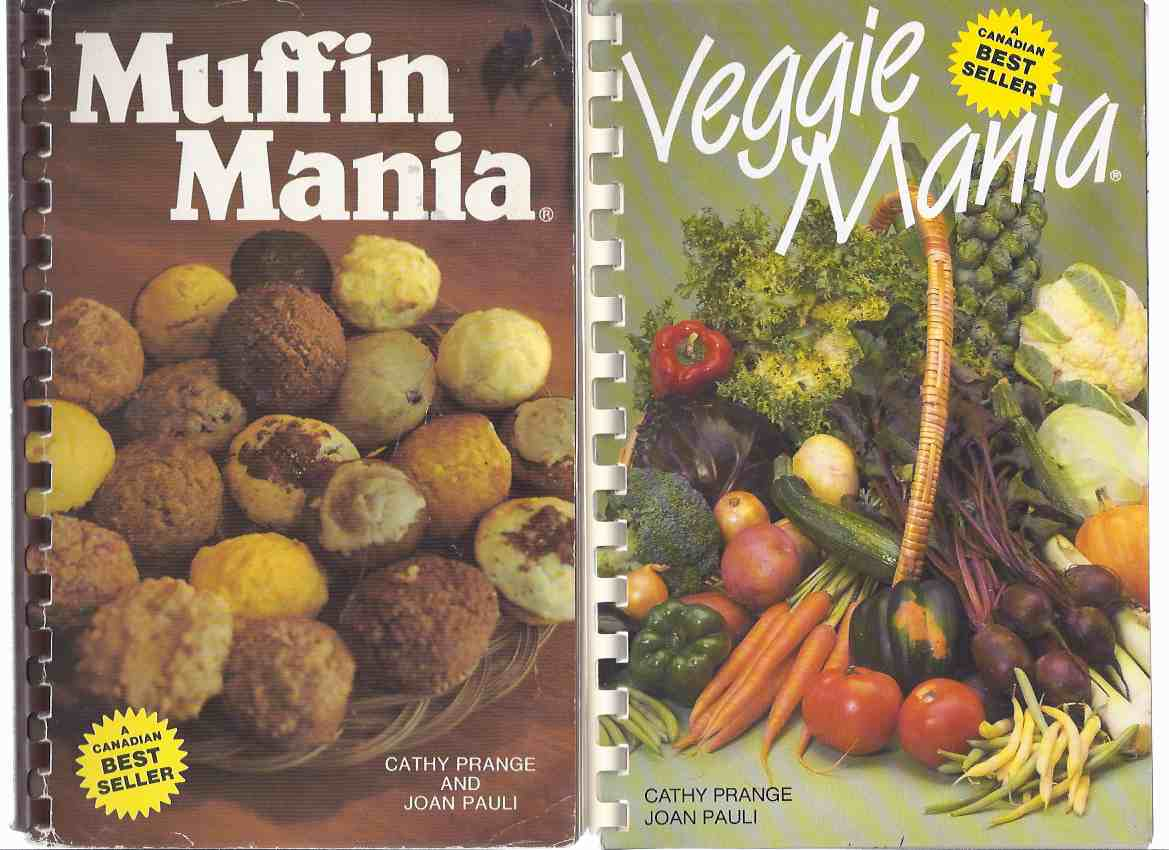 2 Books:  Muffin Mania ---with Veggie Mania  -Two VOLUMES  ( Cookbook / Cook Book / Recipes )