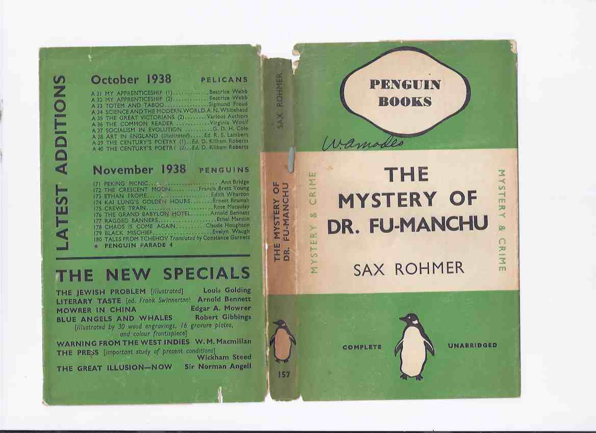 Image for The Mystery of Dr Fu-Manchu -by Sax Rohmer ( Penguin paperback Edition in Dustjacket )