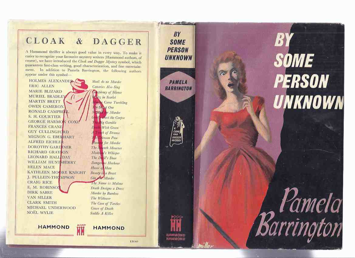 Image for By Some Person Unknown -an Inspector George Marshall Mystery -by Pamela Barrington  ( A cloak and Dagger Choice Mystery Series )