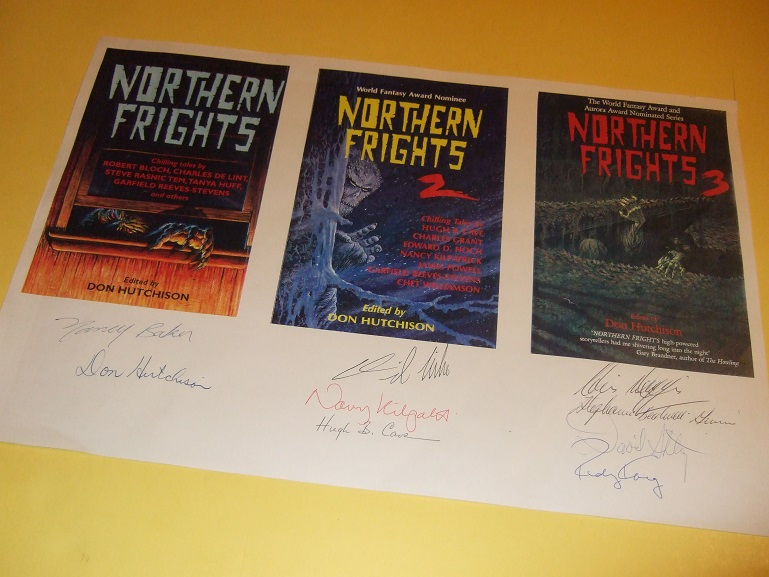 Image for SIGNED Print of Northern Frights 2, 3 and 5 -Signed By Hutchison, Don (ed.) Rudy Kremberg; David Shtogryn; Nancy Kilpatrick; Chris Wiggins; Stephanie Bedwell-Grime; David Nickle; Hugh B Cave; Nancy Baker (signed By All 9 )