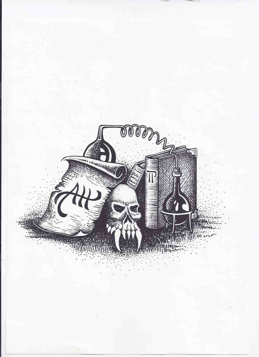 Image for Original Art / Artwork for ADDENDUM ii to the Stock List 1989 - 90 -by Tony Patrick -signed (  Arkham House / Pulp related)