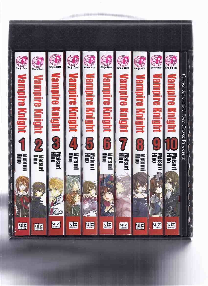 Image for VAMPIRE KNIGHT Series - ELEVEN VOLUMES in a SLIPCASE: Book 1, 2, 3, 4, 5, 6, 7, 8, 9, 10 + CROSS ACADEMY DAY CLASS PLANNER -by Matsuri Hino( Manga / Anime )(( Slipcased / Boxed / Box Edition )