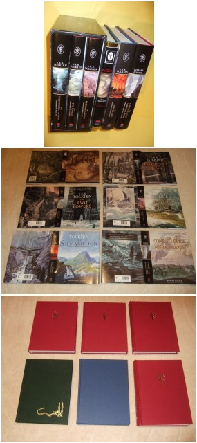 Image for 6 VOLUMES: Hobbit or There & Back Again; Lord of the Rings ( Fellowship of Ring; Two Towers; Return of King ); Silmarillion; Complete Guide to Middle Earth, the Definitive Guide to the World of J R R Tolkien ( Book 1 2 3 of the Trilogy Plus 3 vols.)