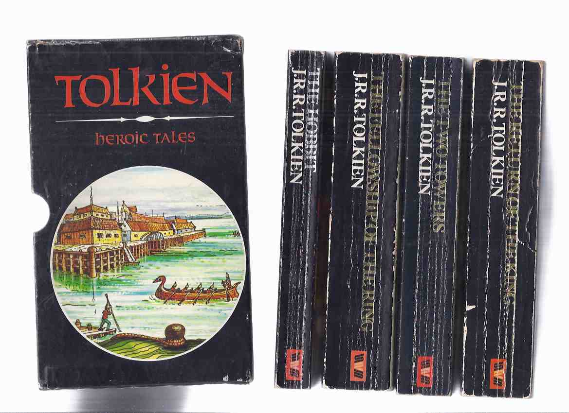 Image for HEROIC TALES -Slipcased Set: The Hobbit ---with The Fellowship of the Ring ---with The Two Towers ---with The Return of the King --- 4 Volumes in a slipcase ( Lord of the Rings trilogy -book 1, 2, 3 and The Hobbit ) ( Boxed / Box )