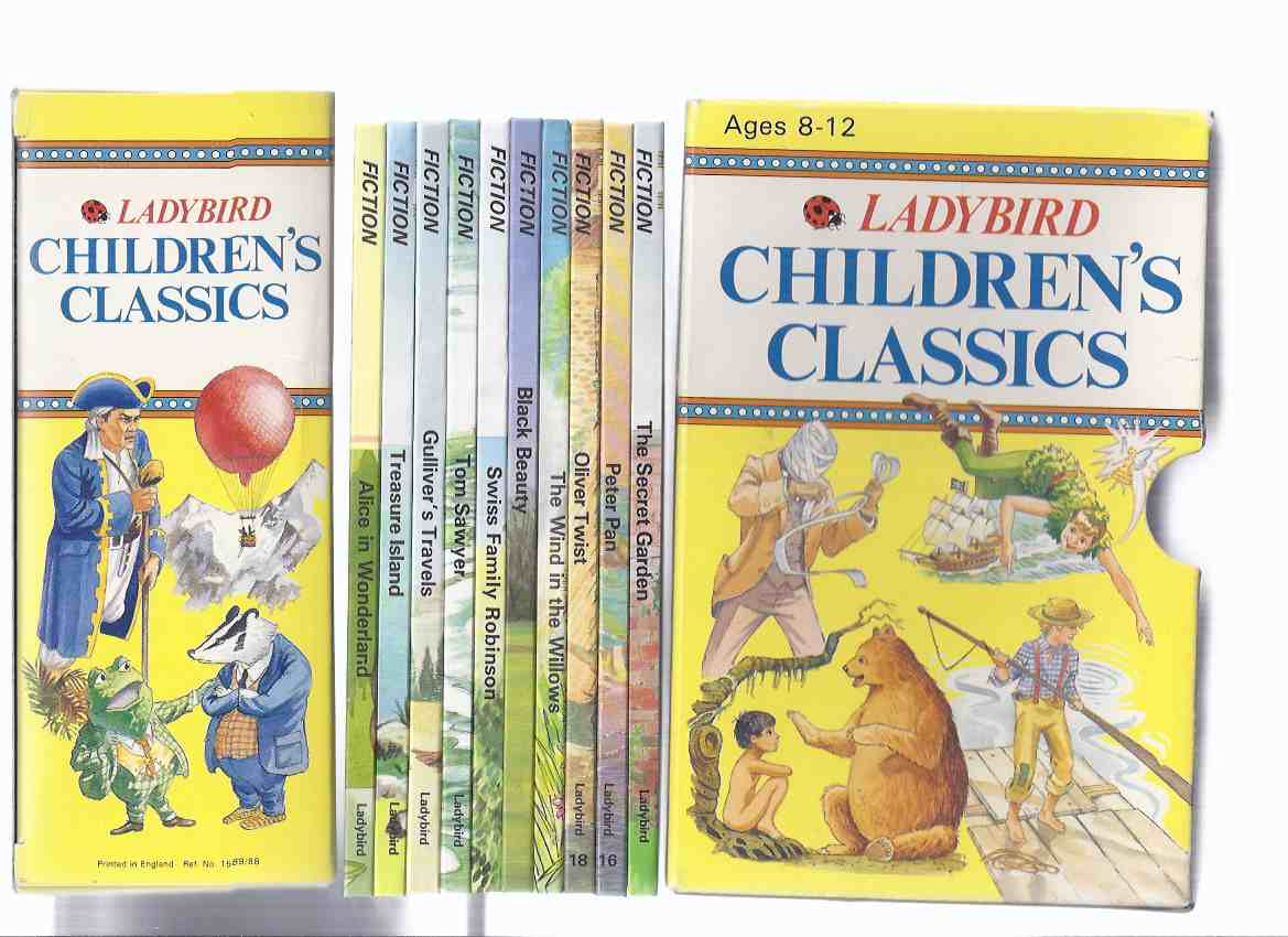 Image for Ladybird Children's Classics -10 Volumes in a Slipcase: Alice in Wonderland; Treasure Island; Gulliver's Travels; Tom Sawyer; Swiss Family Robinson; Black Beauty; Wind in Willows; Oliver Twist; Peter Pan; Secret Garden