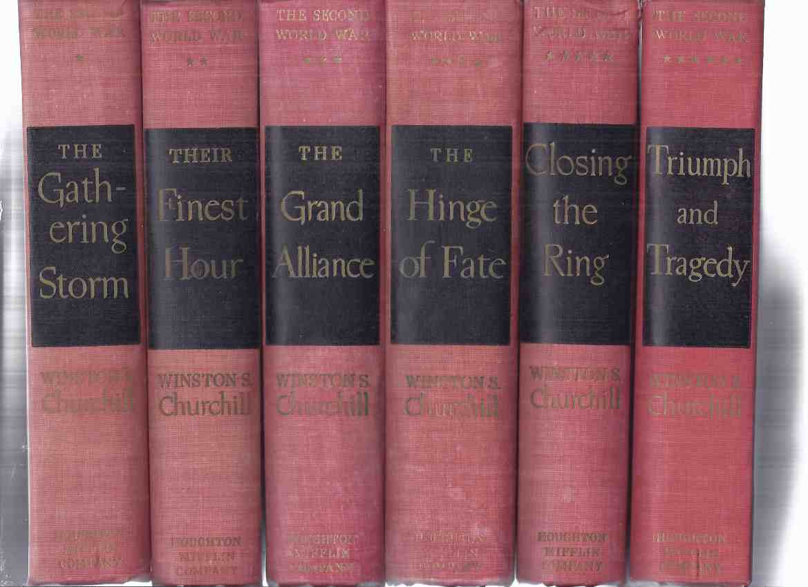 Image for The Second ( 2nd ) World War:  Gathering Storm; Their Finest Hour; Grand Alliance; Hinge of Fate; Closing the Ring; Triumph and Tragedy ---6 Volumes ---book 1, 2, 3, 4, 5, 6  -by Winston Churchill  ( i, ii, iii, iv, v, vi )