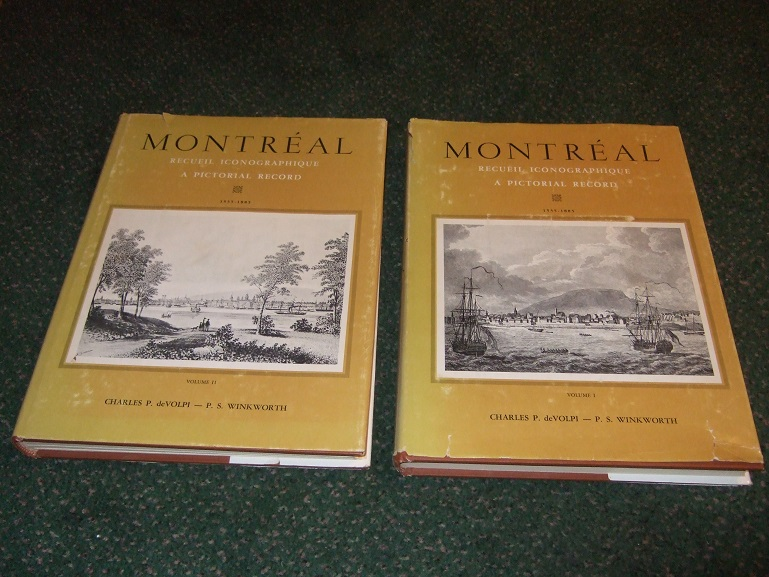 Image for TWO VOLUMES:  MONTREAL, Recueil Iconographique / A Pictorial Record 1535 - 1885 / Book i and ii -by Charles deVolpi and P S Winkworth ( French & English Text )( Fold-Outs Intact )( Canadiana / French Canadian / Prints / Illustrations )
